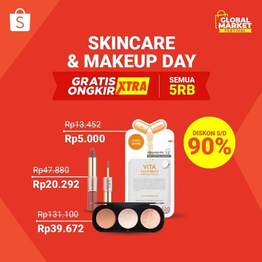 Diskon Promo Shopee Skincare Makeup Day Diskon Hingga 90% Untuk Poduk Kecantikan