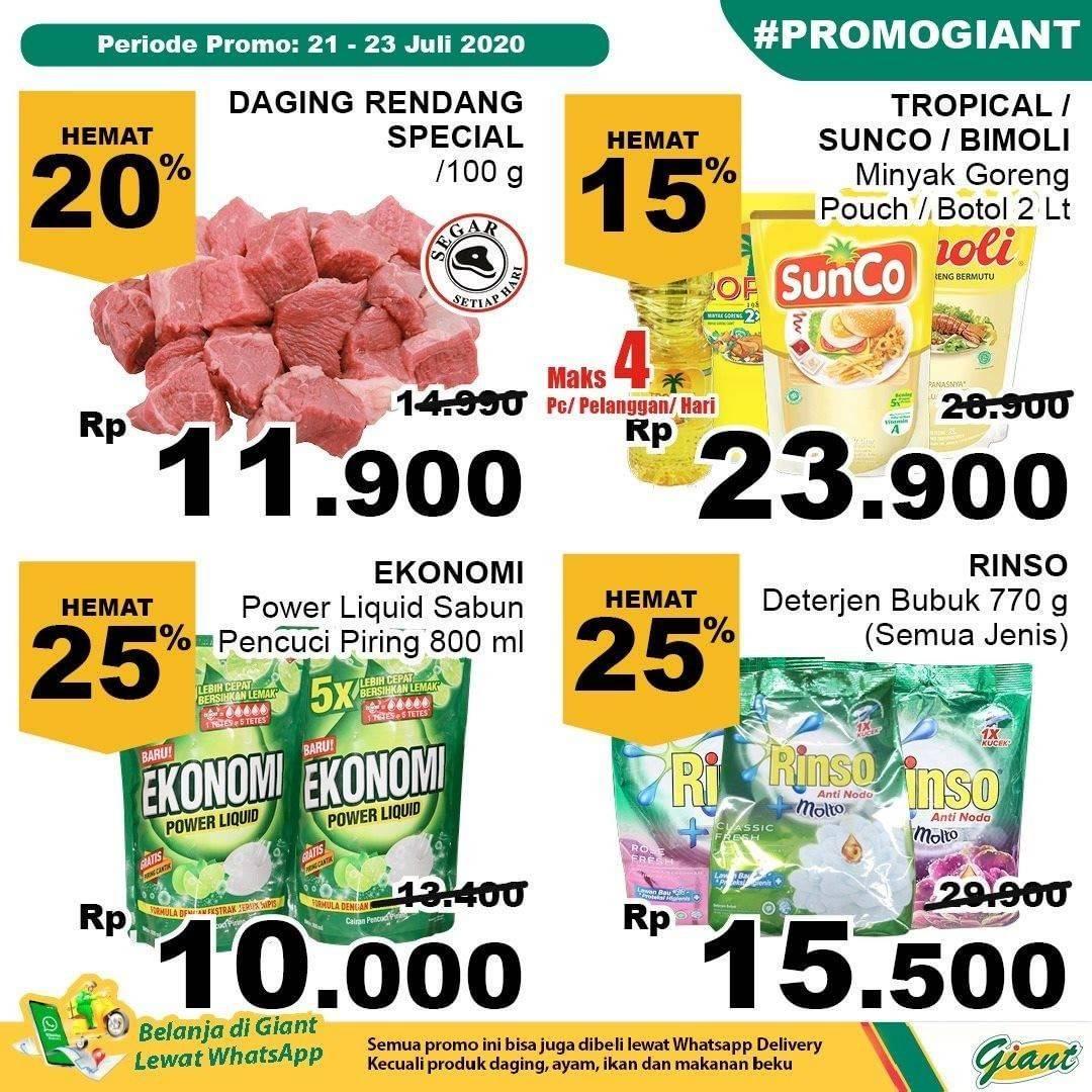 Katalog Promo Giant Weekday Terbaru Periode 21 23 Juli 2020 Disqonin