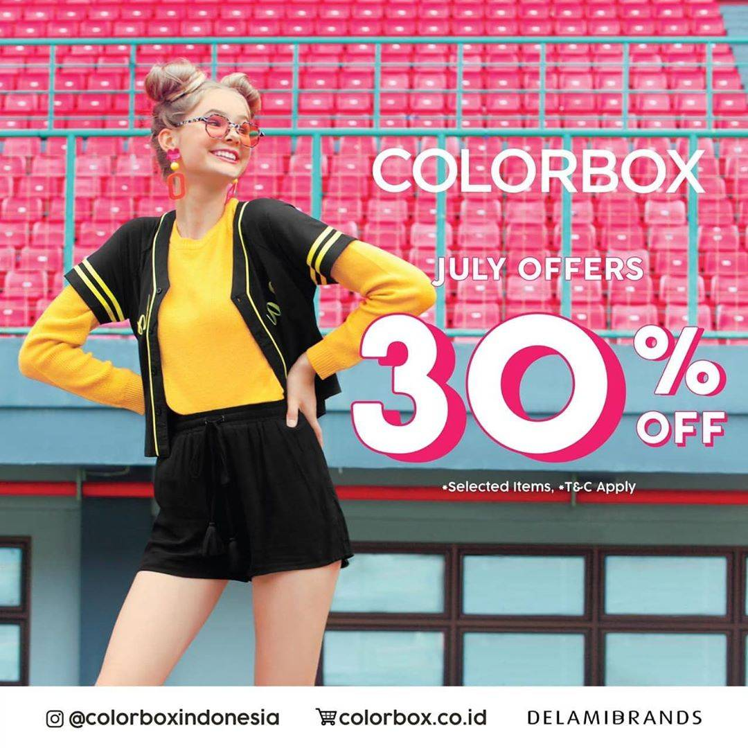 Diskon Promo Colorbox July Offers Discount 30% Off