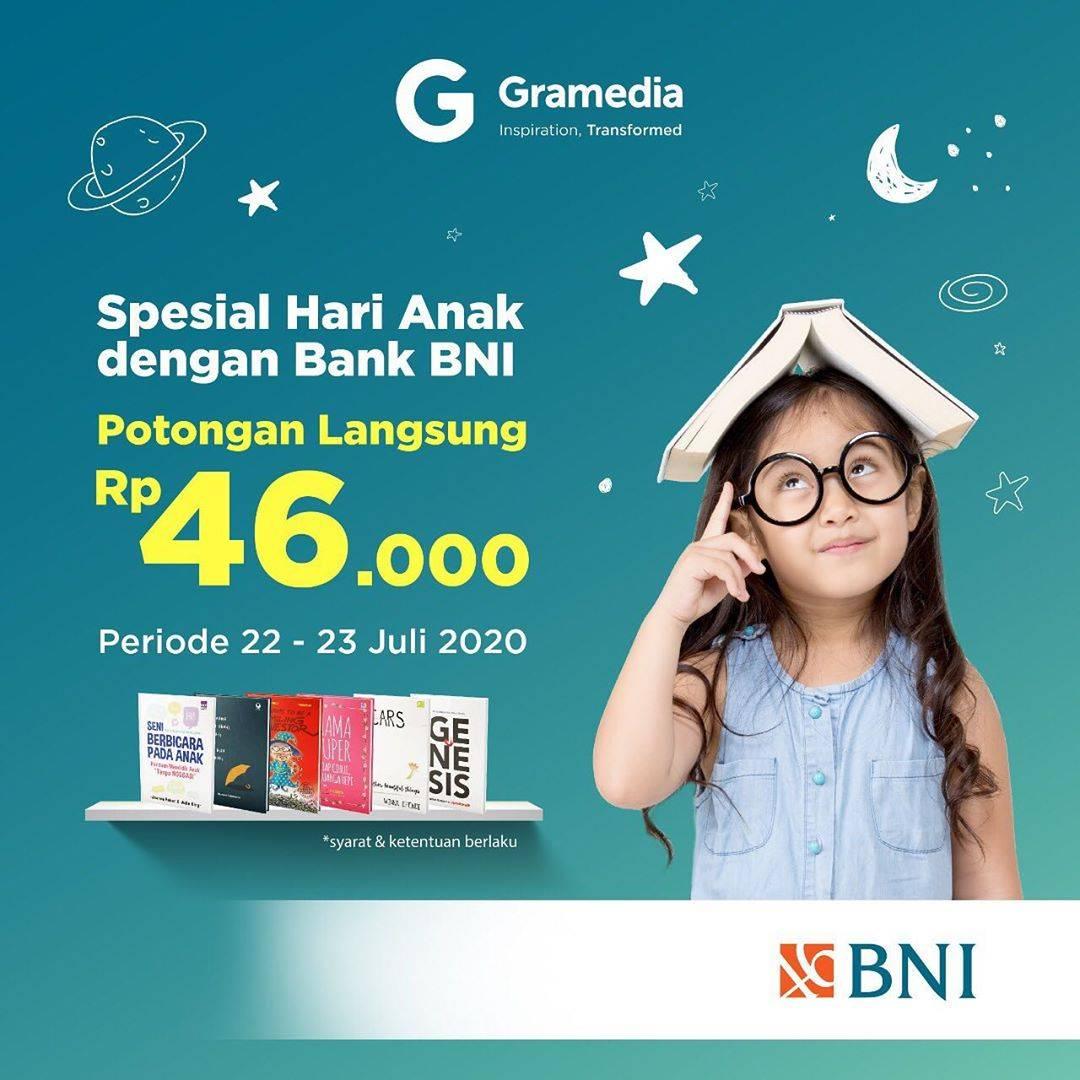 Diskon Promo Gramedia Potongan Rp. 46.000 Untuk Buku Favorit Untuk Transaksi Pakai Kartu Debit BNI