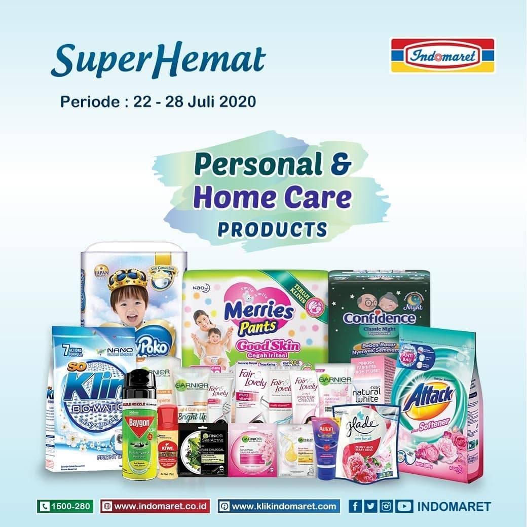 Diskon Katalog Promo Indomaret Super Hemat Personal & Home Care (Non Grocery) Periode 22 - 28 Juli 2020
