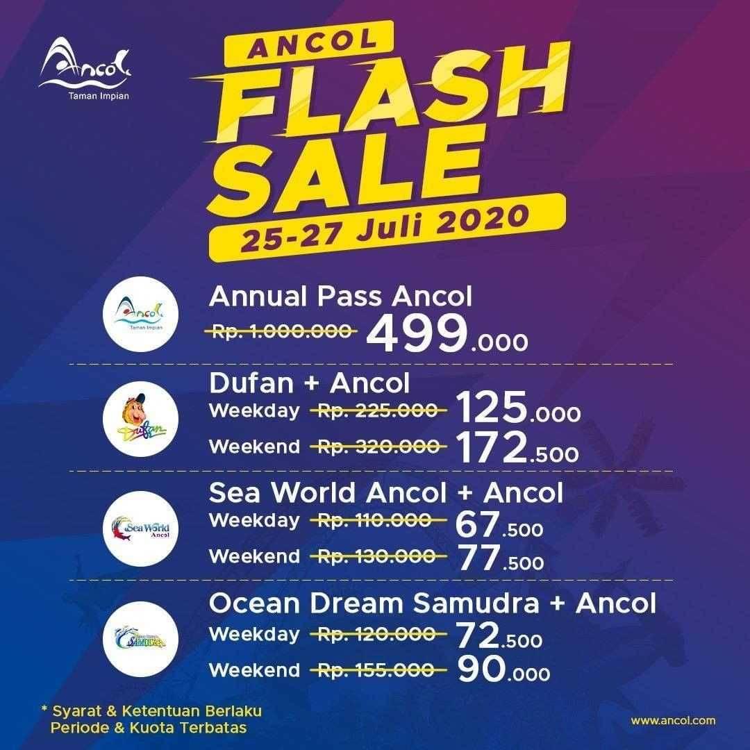 Promo diskon Promo Ancol Falsh Sale Periode 25-27 Juli 2020