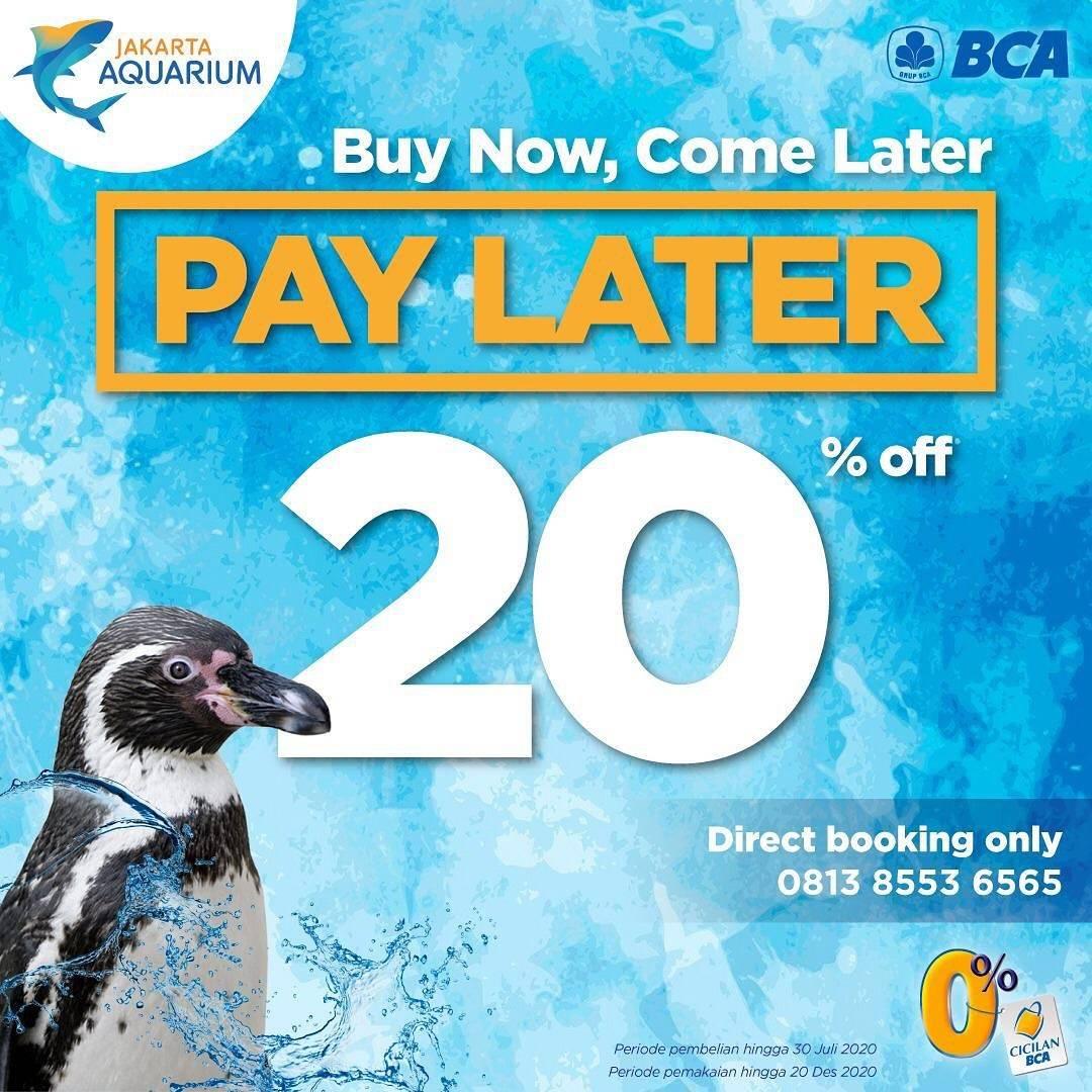 Diskon Promo Jakarta Aquarium Get Discount 20% Off For Payments With BCA Credit Card/ Debit Card