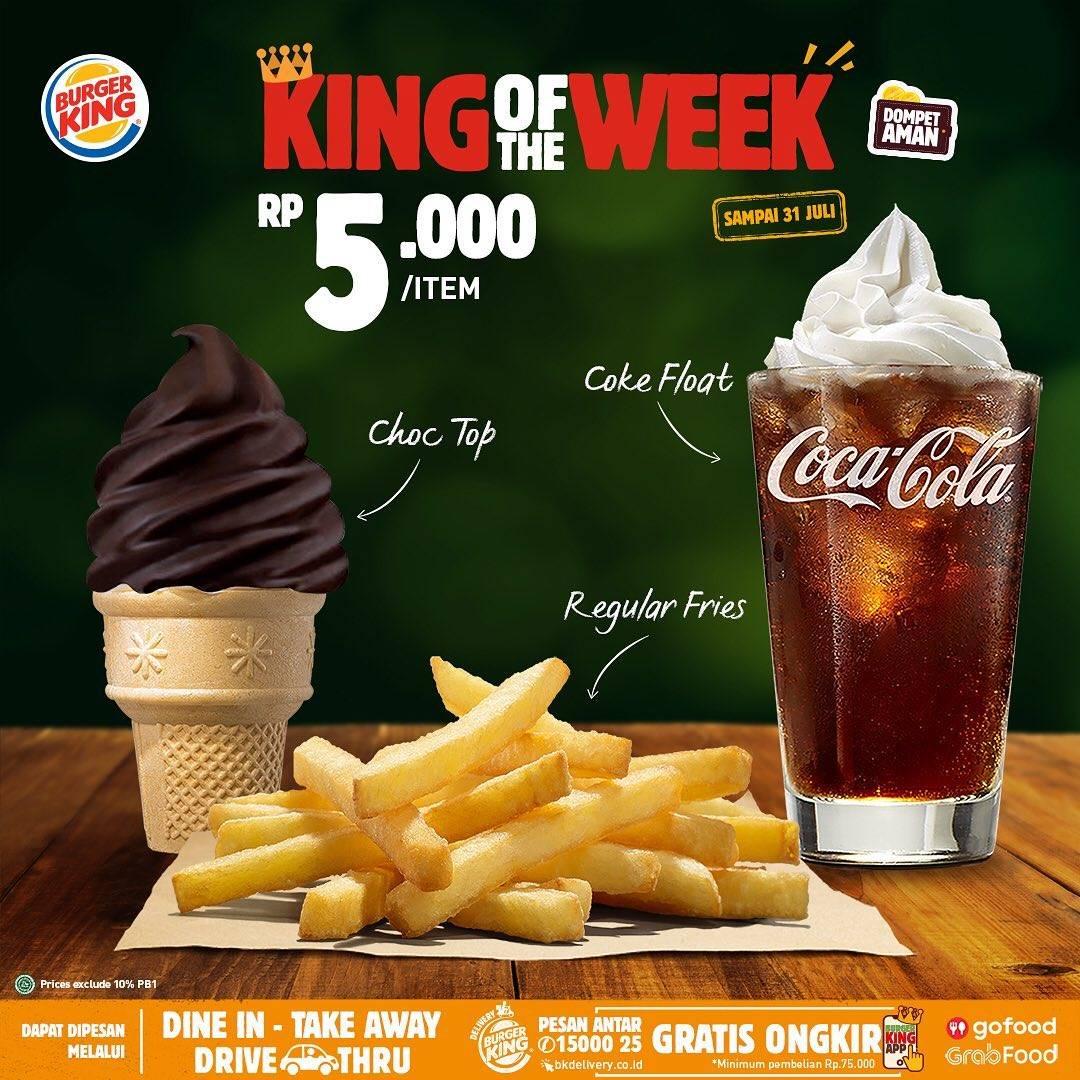 Diskon Promo Burger King King Of The Week Harga Mulai Dari Rp. 5.000