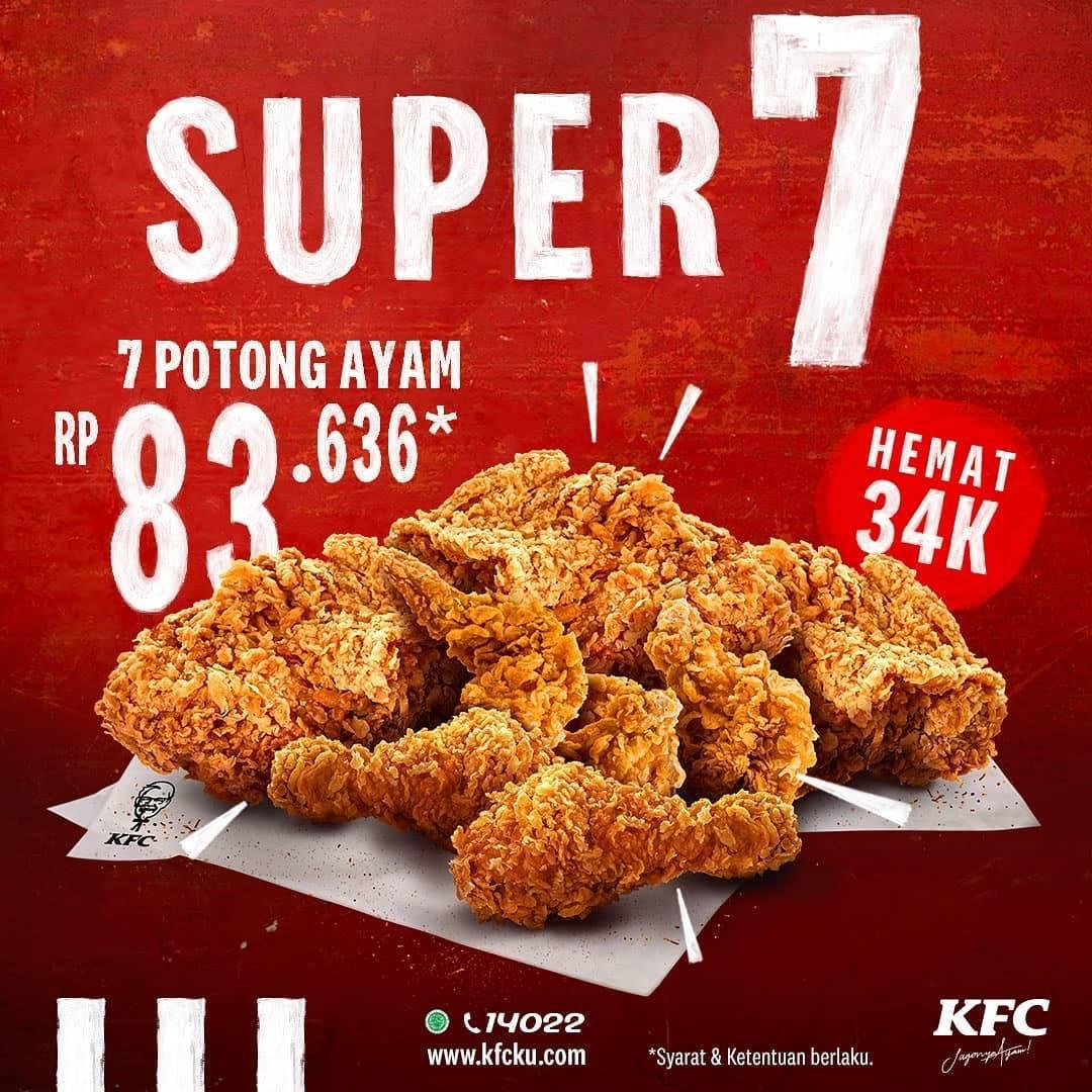 Diskon Promo KFC Paket Super 7 Hanya Rp. 83.636