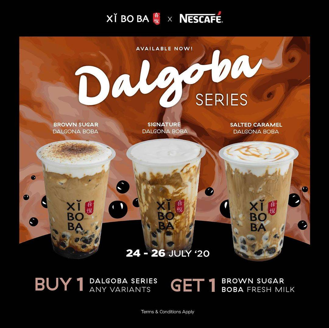 Diskon Promo Xi Bo Ba Buy 1 Dalgoba Series Get 1 Free Brown Sugar Boba Fresh Milk