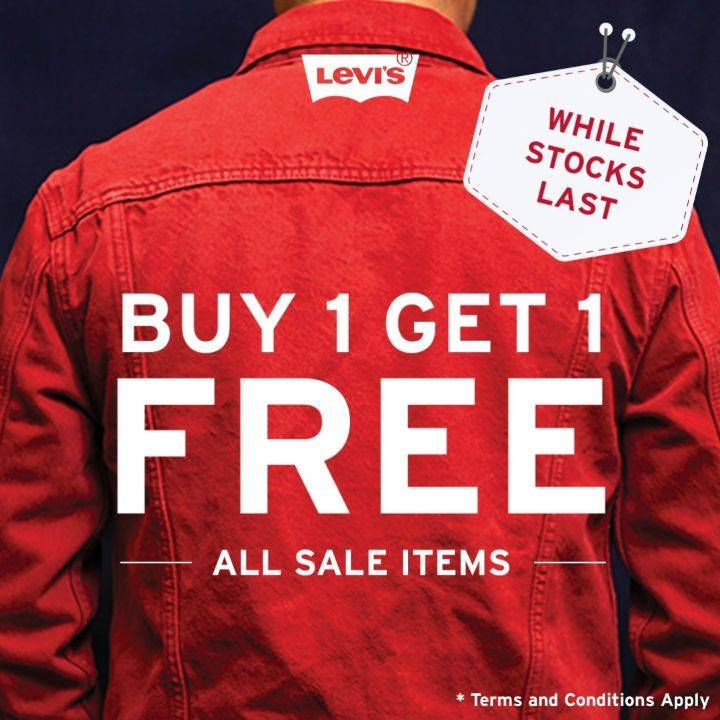 Diskon Promo Levis Buy 1 Get 1 Free For All Sales Items