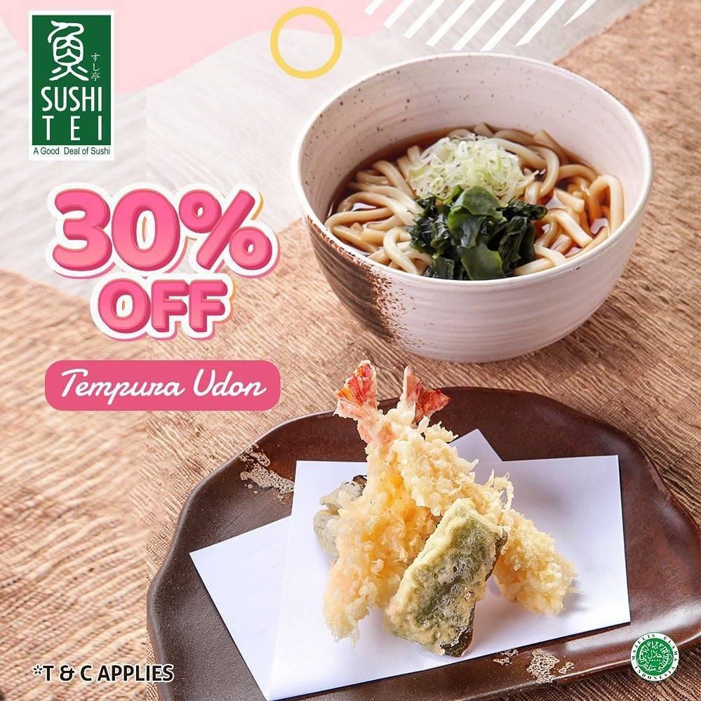 Diskon Sushi Tei Tempura Udon 30% Off