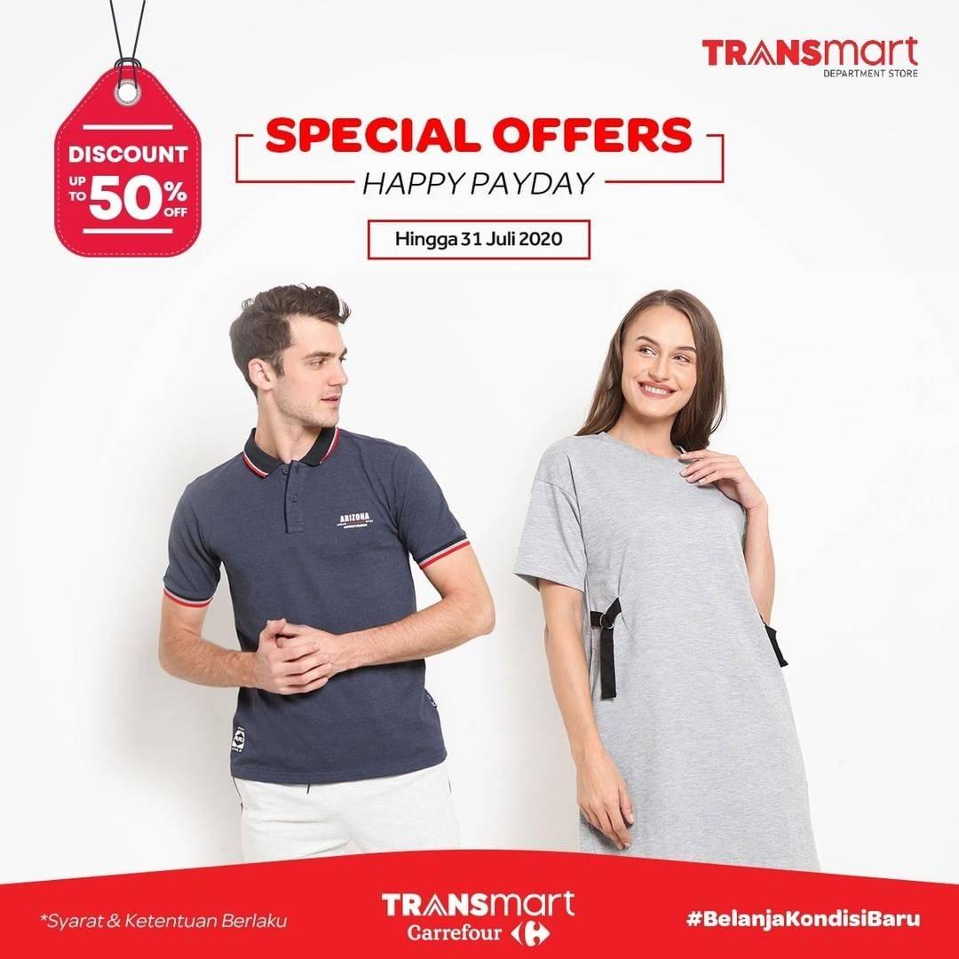 Diskon Katalog Promo Transmart Spesial Happy Payday Periode Hingga 31 Juli 2020