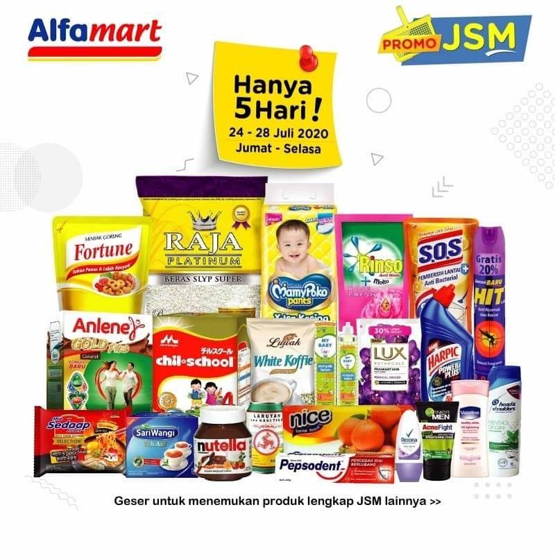 Diskon Katalog Promo Alfamart JSM Terbaru Periode 24 - 28 Juli 2020