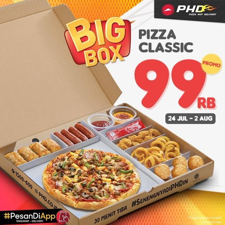 Diskon Promo PHD Big Box 99ribu Pizza Classic