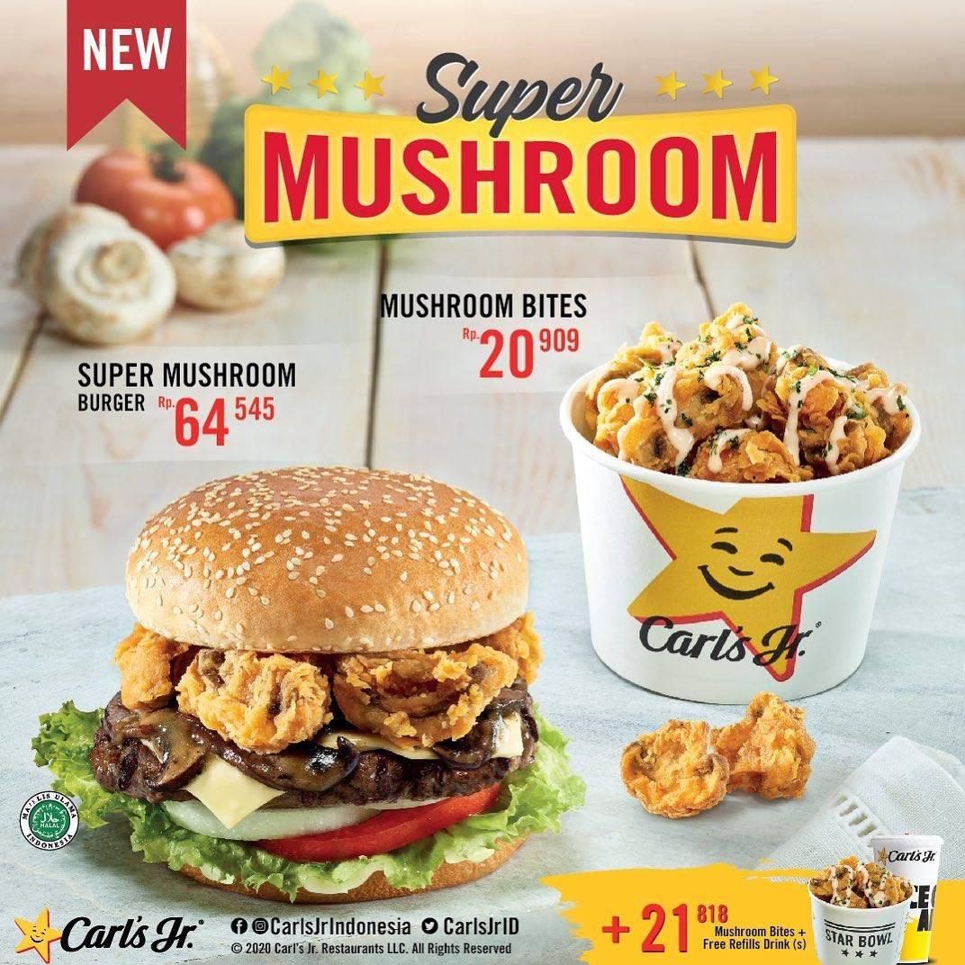 Diskon Promo Carls Jr Special Value Super Mushroom Variant Start From 20.909