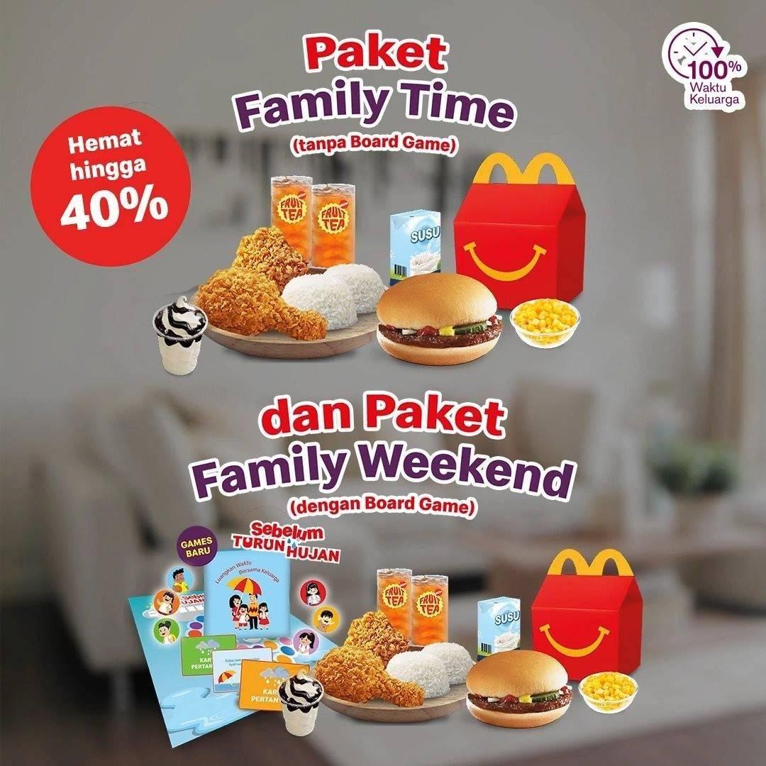 Diskon Promo McDonalds Diskon Hingga 40% Untuk Paket Family Weekend