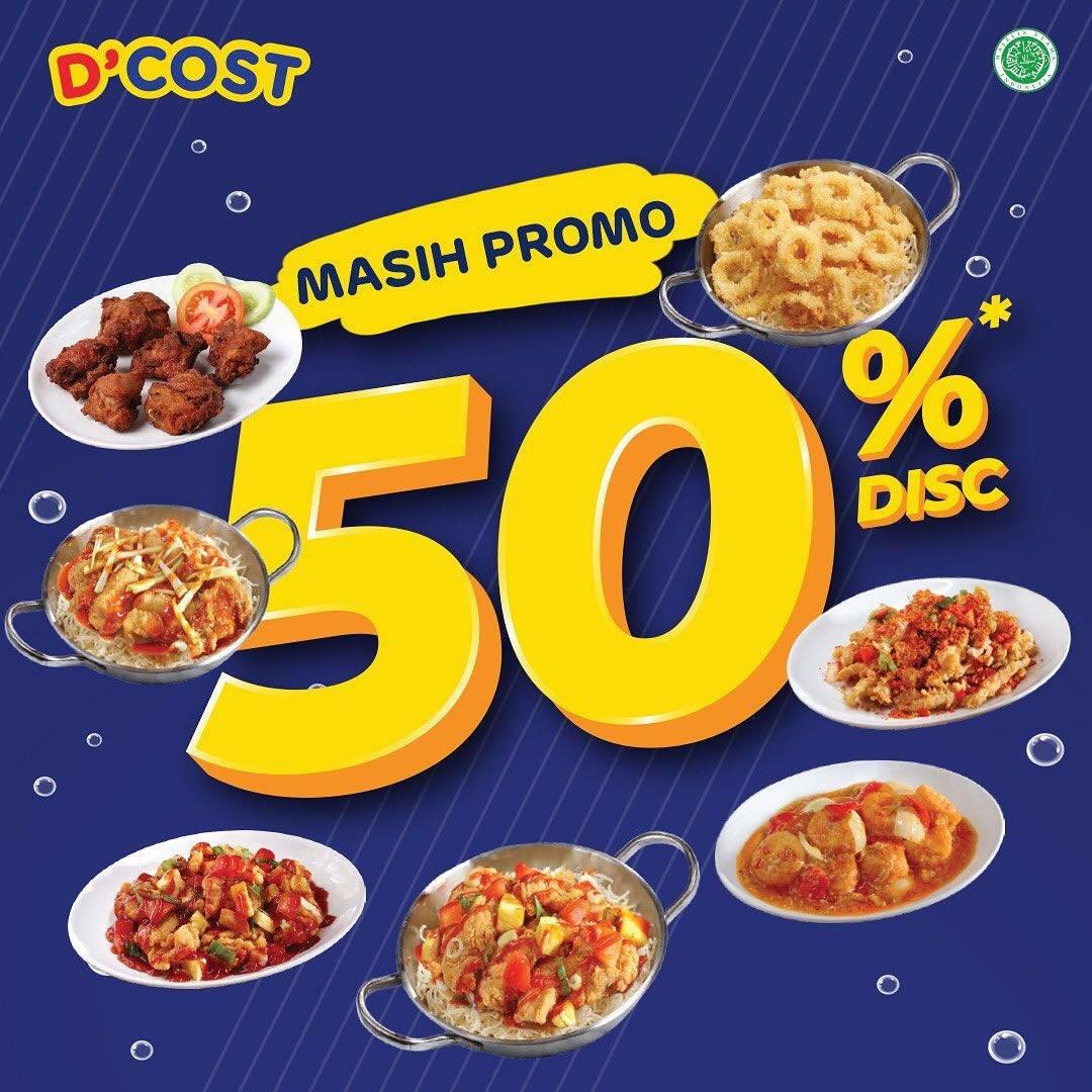Diskon Promo D'Cost Diskon 50% Untuk Menu Favorit