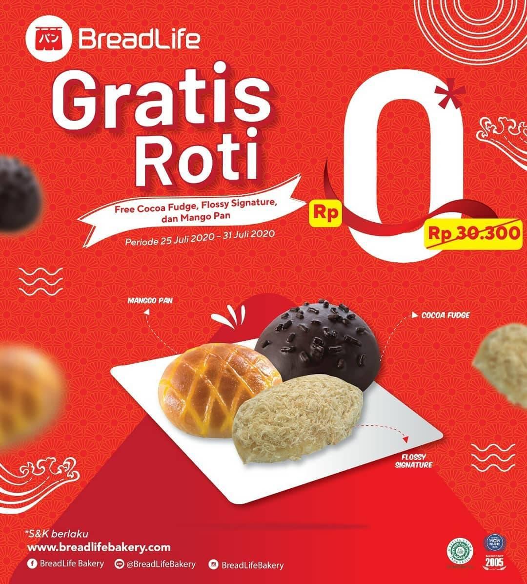 Diskon Promo Breadlife Gratis Roti Favorit Setiap Minimal Transaksi Rp. 50.000