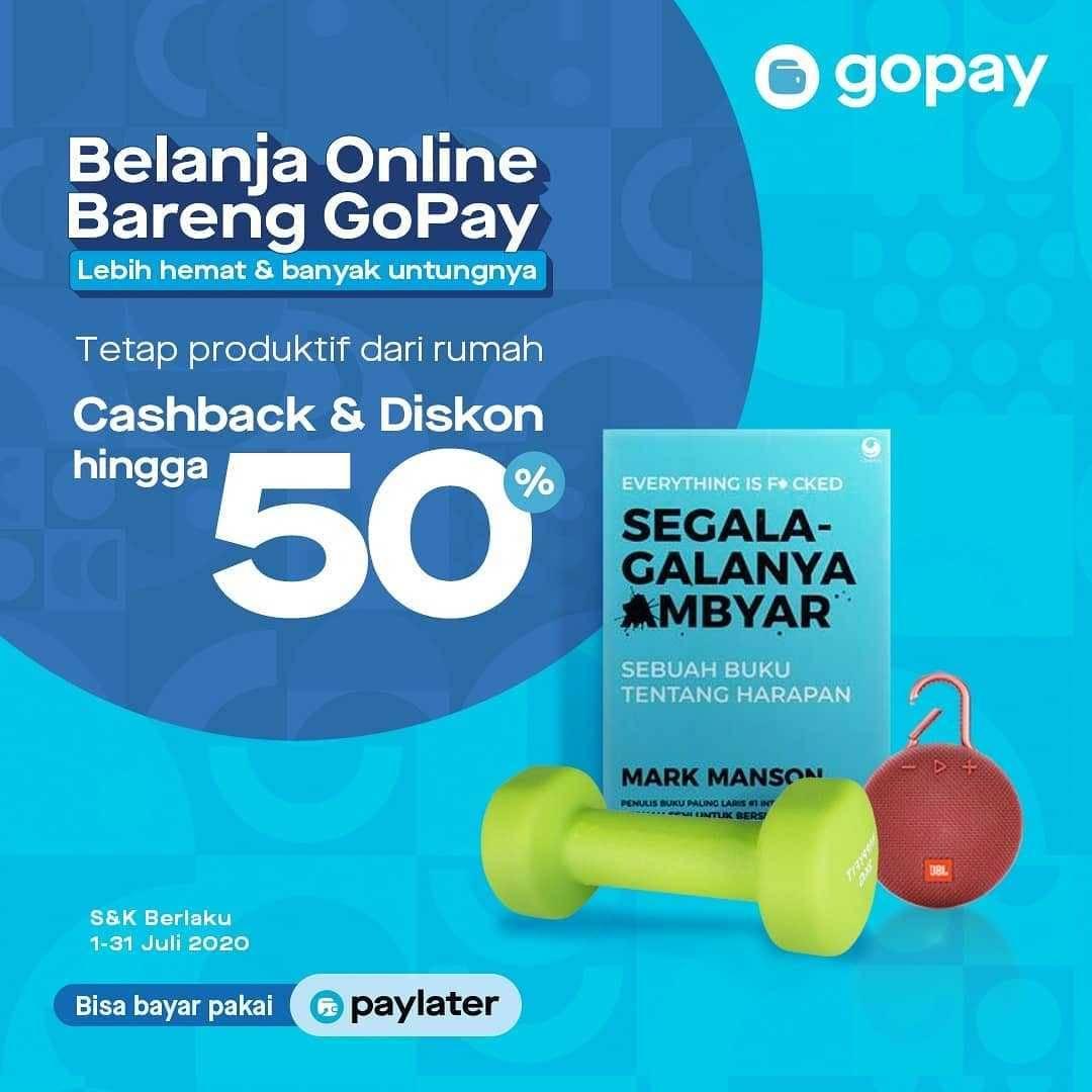 Promo diskon Promo Belanja Online Bareng Gopay Cashback & Diskon Hingga 50% Di Merchant PIlihan