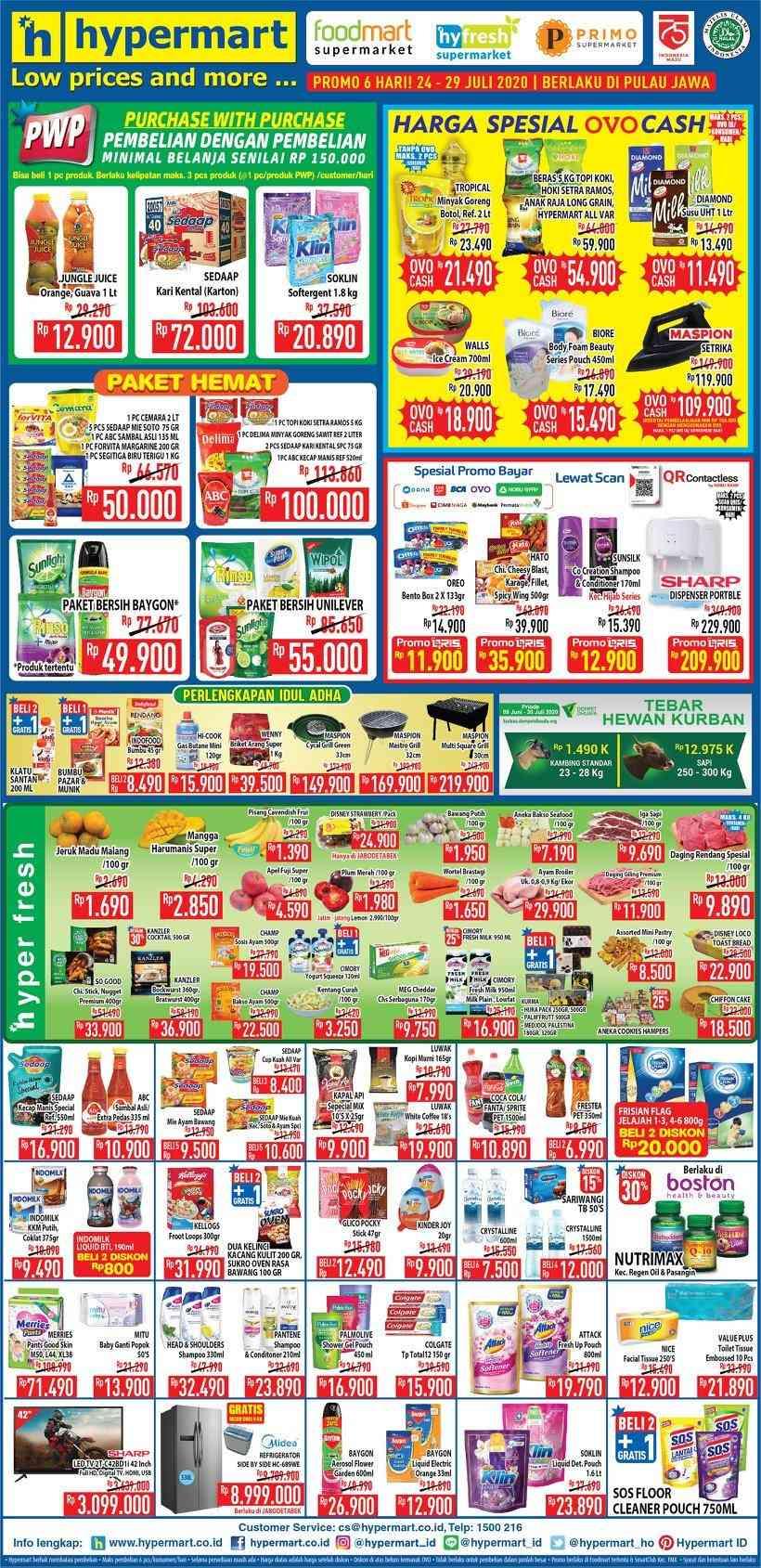 Diskon Katalog Promo Hypermart Weekend JSM Terbaru Periode 24 - 29 Juli 2020