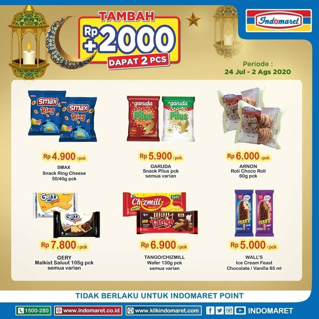 Katalog Promo Indomaret 2000 Dapat 2 Periode 24 Juli 2 Agustus 2020 Disqonin