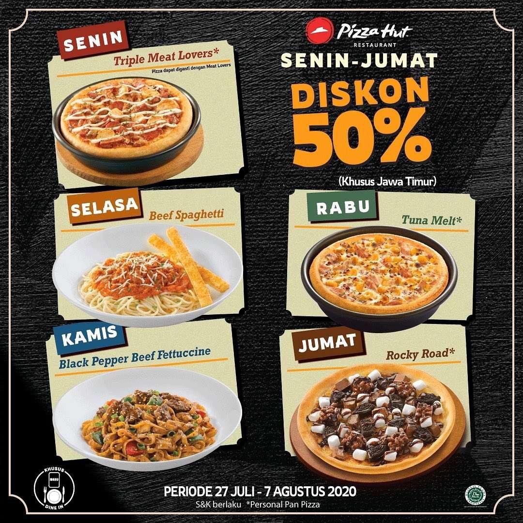 Diskon Promo Pizza Hut Wilayah Jawa Timur Diskon 50% Untuk Menu Pilihan