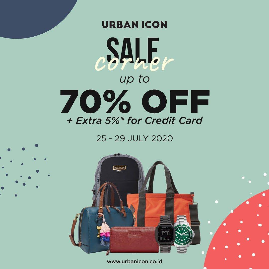 Diskon Promo Urban Icon Sale Corner Up To 70% + Extra 5% For Payments With Credit Card