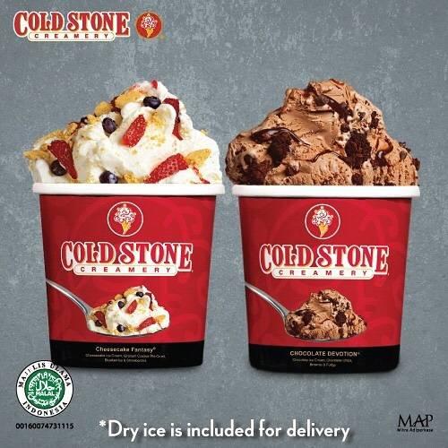 Diskon Promo Cold Stone Buy 1 Get 1 Free Ice Cream Untuk Pemesanan Melalui GoFood