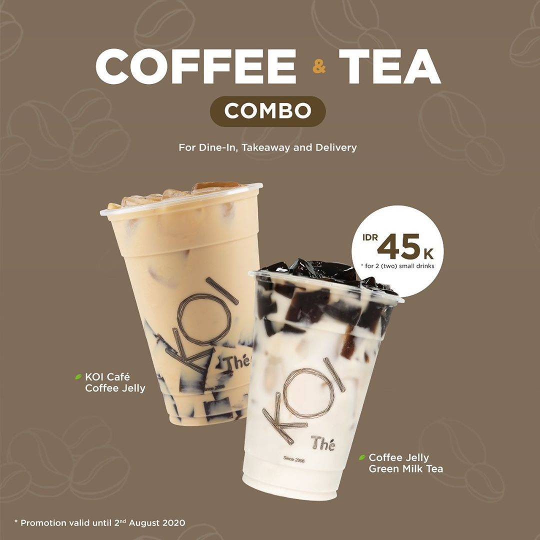 Diskon Promo KOI Combo Coffee & Tea Special Value Only For Rp. 45.000