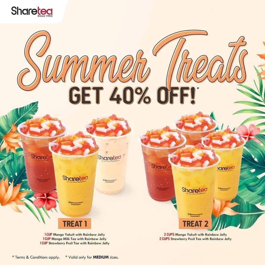 Diskon Promo Sharetea Summer Treats Discount 40% Off On Selected Menu