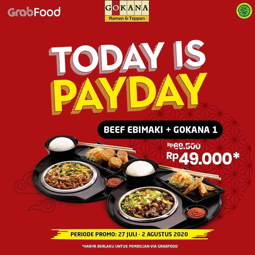 Promo diskon Promo Gokana Resto Today Is Payday Packages Start From Rp. 25.500 On GrabFood