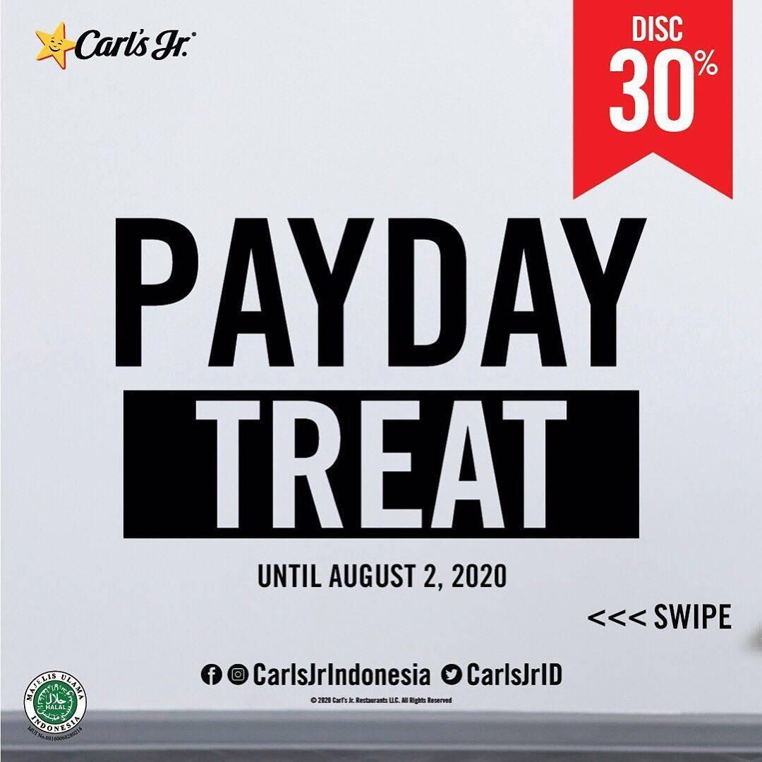 Diskon Promo Carls Jr Payday Treat Diskon 30% Untuk Pemesanan Paket Favorit Melalui GrabFood