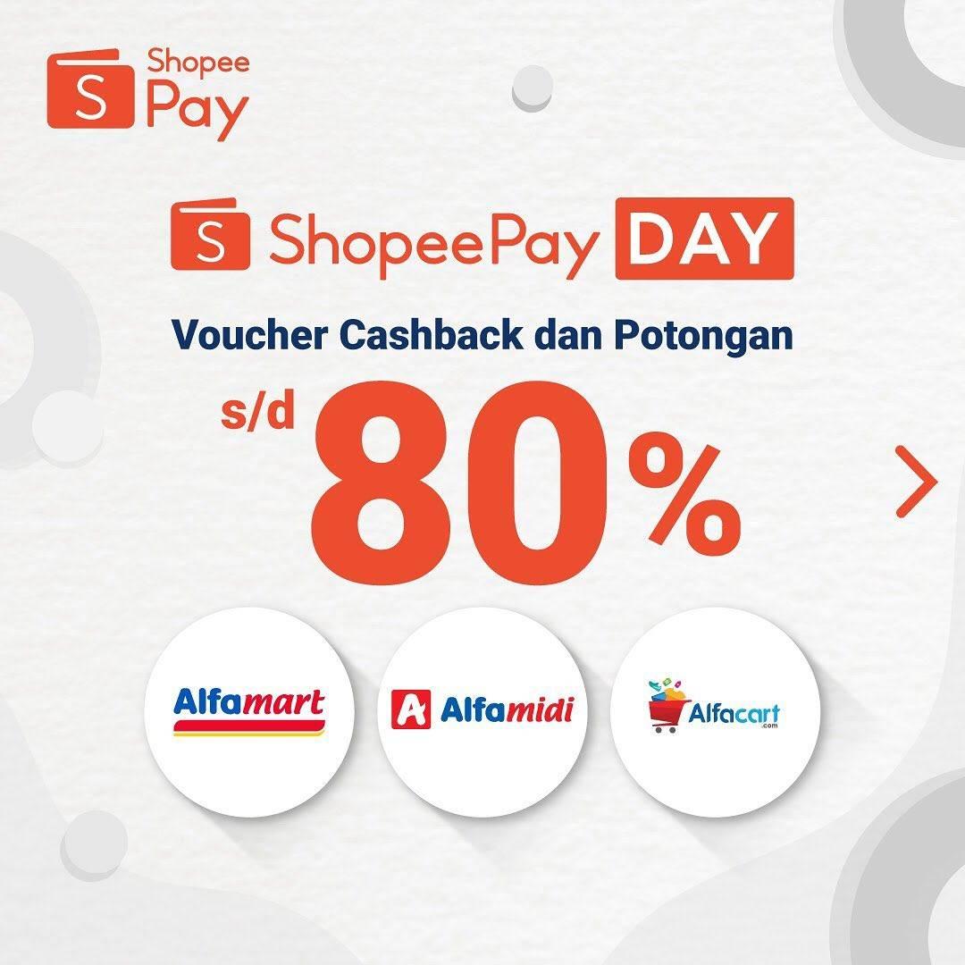 Promo Shopeepay Voucher Cashback Hingga 80 Untuk Alfamart Alfamidi Alfacart Disqonin