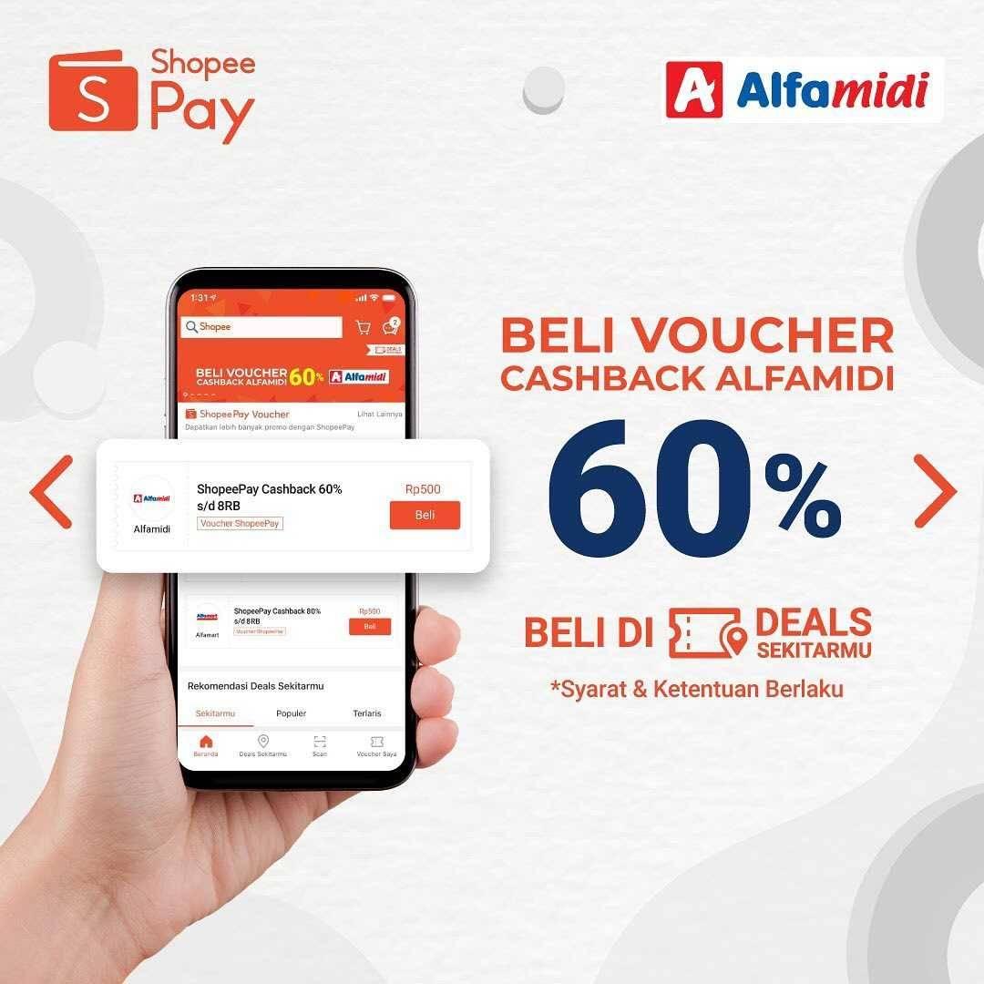 Promo diskon Promo Shopeepay Voucher Cashback Hingga 80% Untuk Alfamart, Alfamidi, & Alfacart