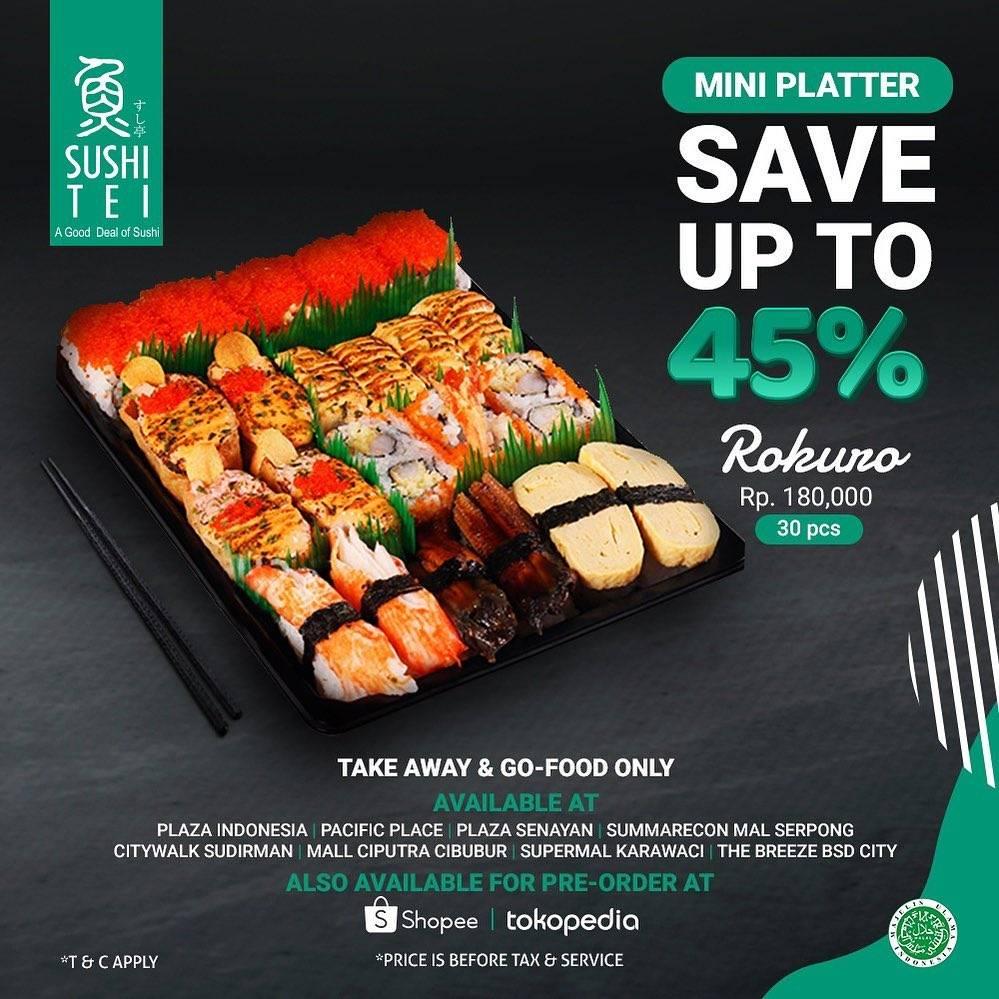 Diskon Sushi Tei Promo Mini Platter Save Up to 45%