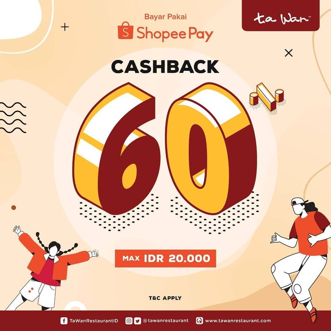 Diskon Ta Wan Promo ShopeePay Cashback 60%
