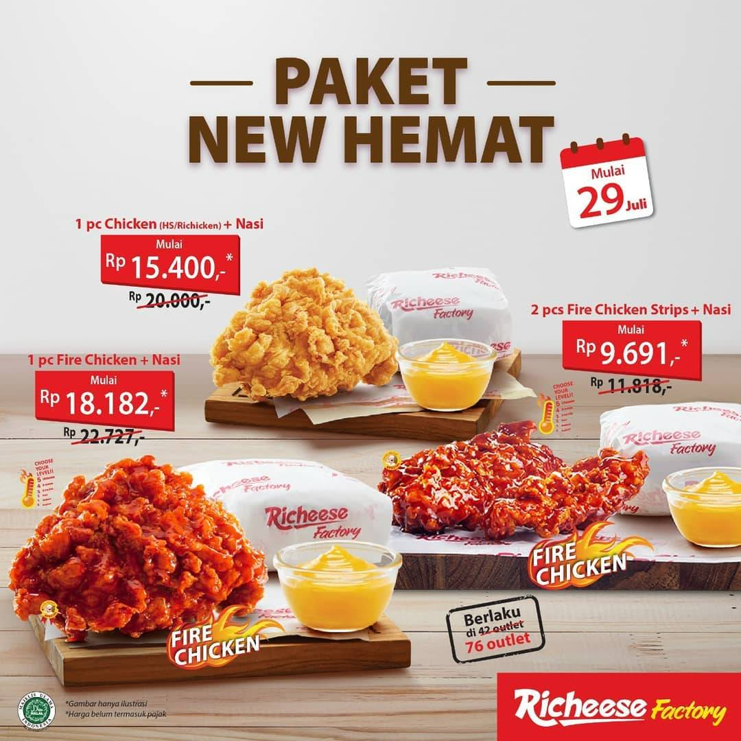Diskon Promo Richeese Factory Paket New Hemat Harga Mulai Dari Rp. 9.691