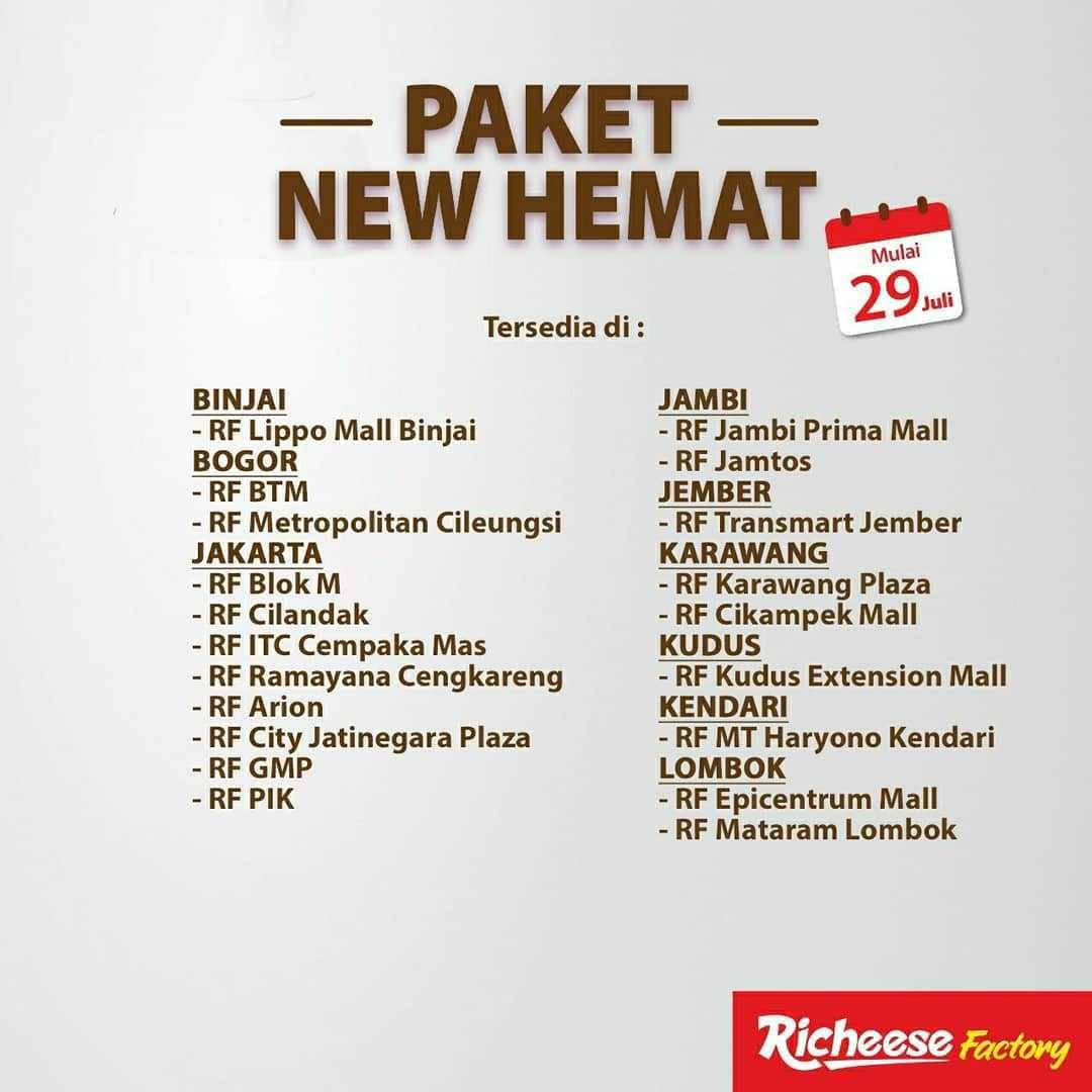 Promo diskon Promo Richeese Factory Paket New Hemat Harga Mulai Dari Rp. 9.691