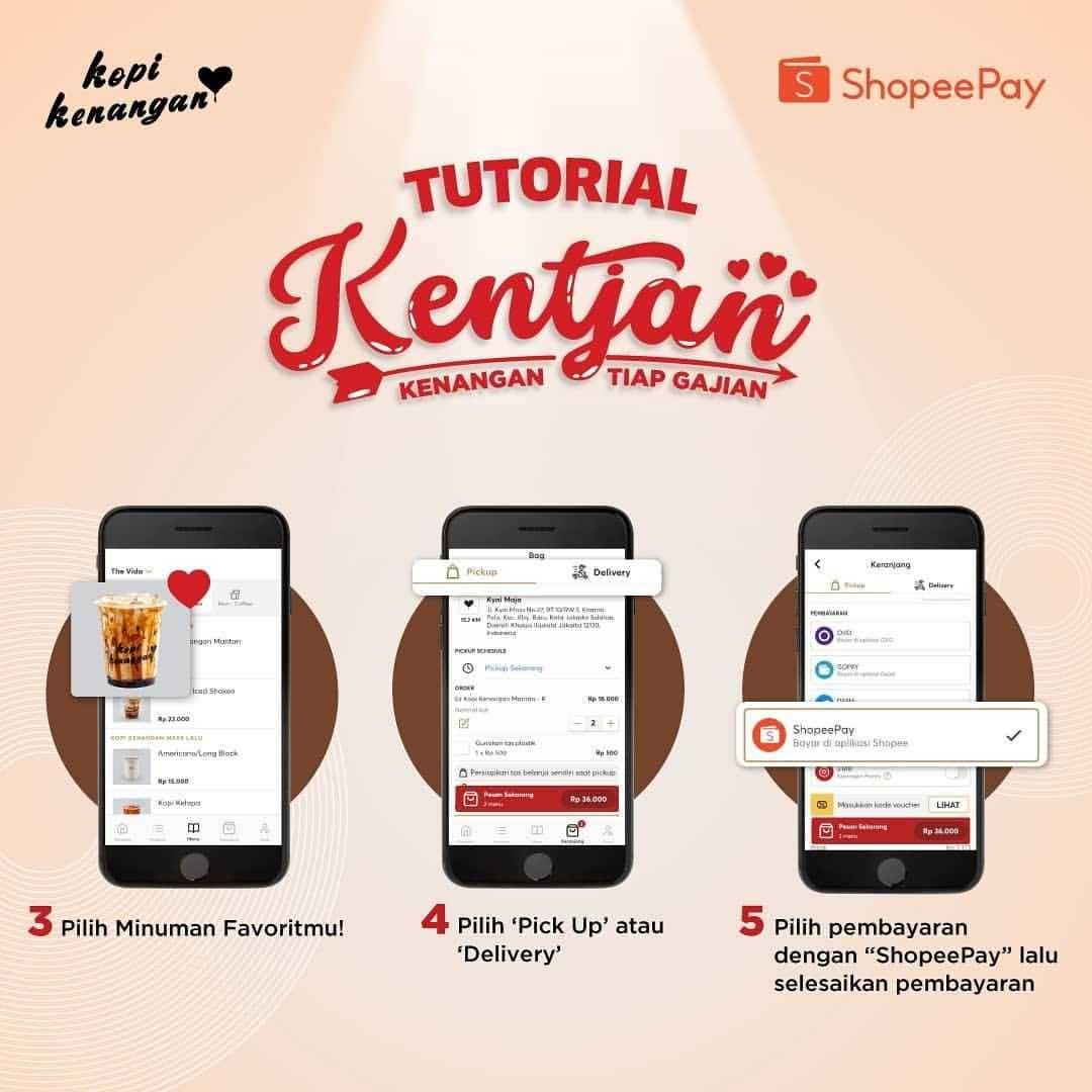 Promo diskon Promo Kopi Kenangan Cashback 100% Untuk Transaksi Menggunakan Shopeepay