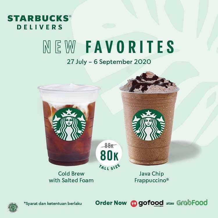 Promo diskon Promo Starbucks New Favorites Summer Packages Only For Rp. 80.000