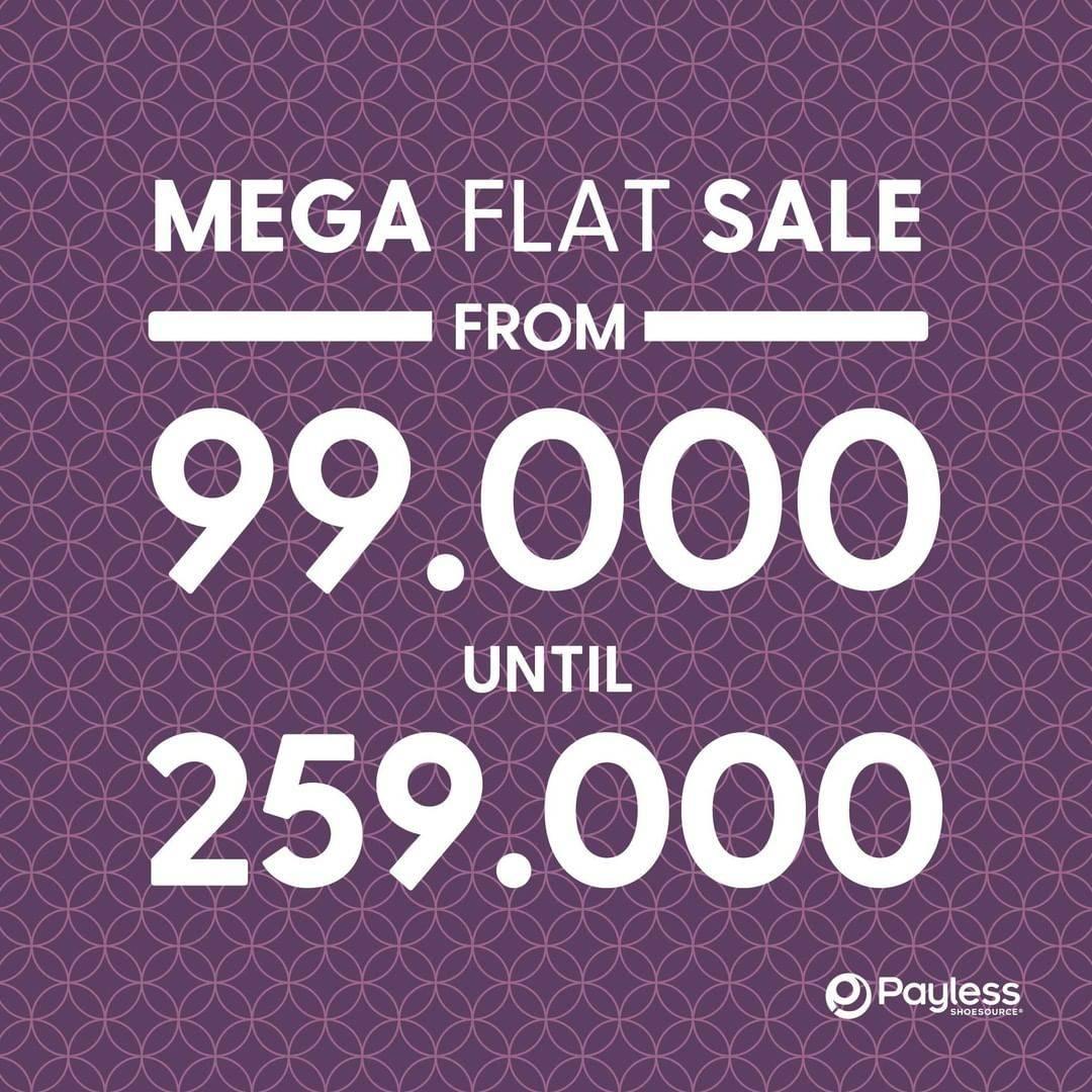 Diskon Promo Payless Mega Flat Sale Start From IDR. 99.000 - 259.000