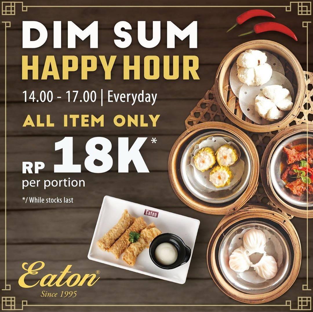 Diskon Promo Eaton Indonesia Dimsum Happy Hour Harga Spesial Menu Dim Sum Hanya Rp. 18.000