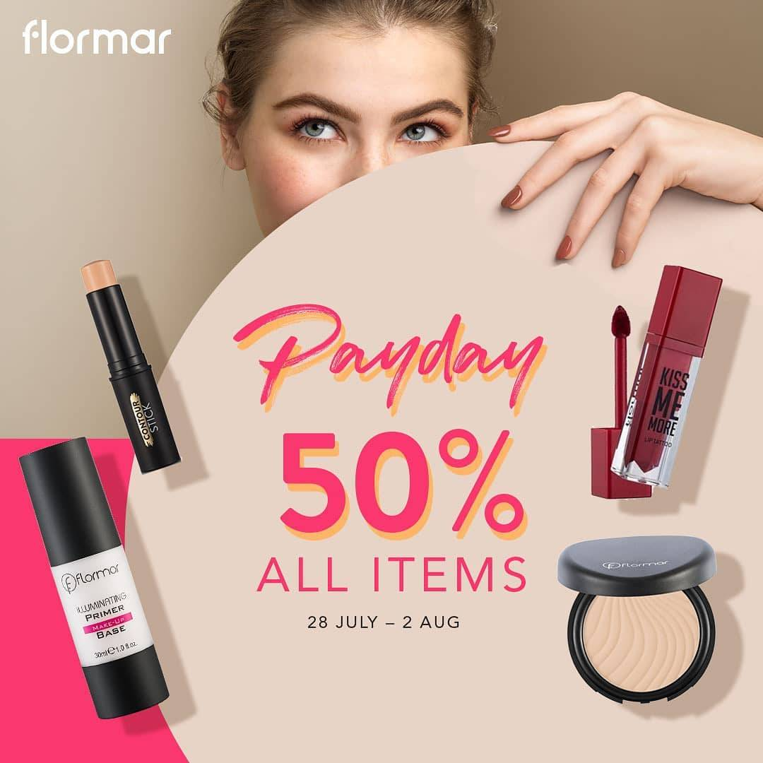 Diskon Promo Flormar Payday Discount 50% Off On All Items