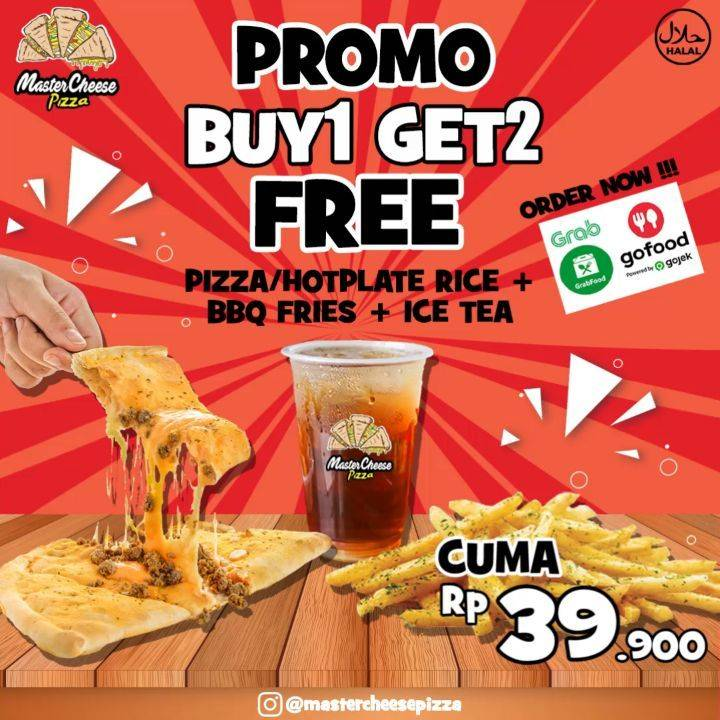 Diskon Promo Mastercheese Pizza Buy 1 Get 2 Free Favorite Package