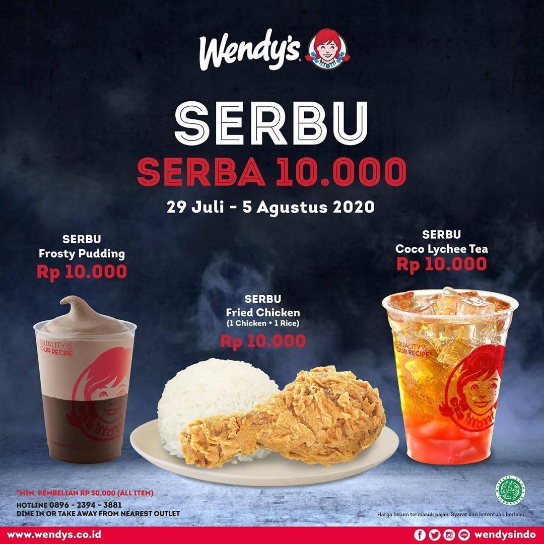 Diskon Promo Wendys Paket Serba Sepuluh Ribu Untuk Minimal Transaksi Rp. 50.000