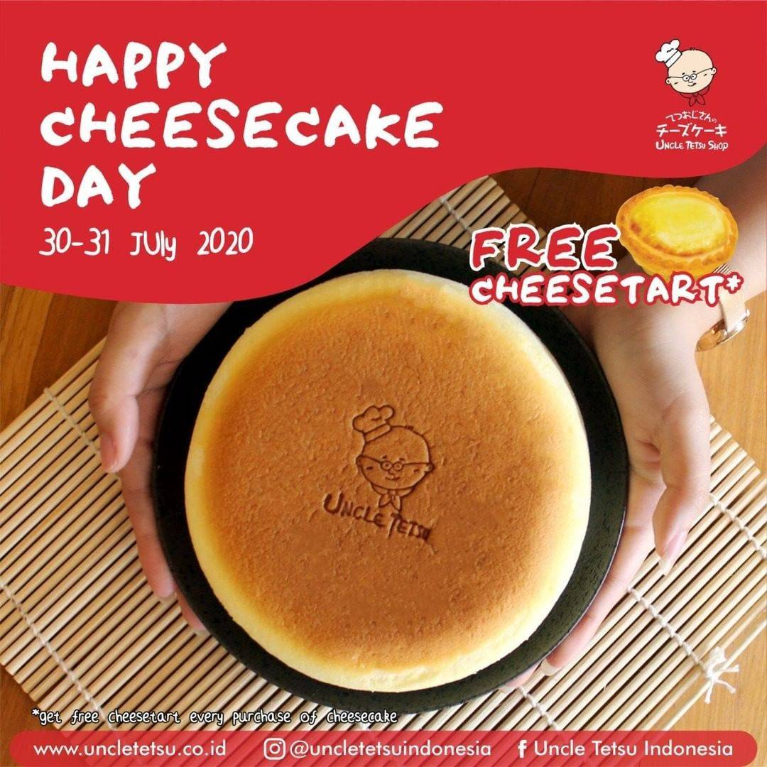 Diskon Promo Uncle Tetsu Happy Cheesecake Day Free Cheesetart