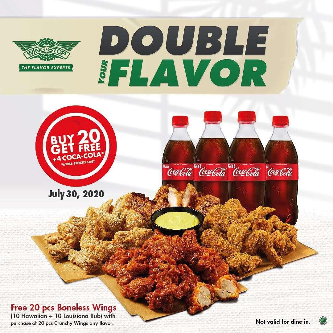 Diskon Promo Wingstop Double Your Flavor Buy 20 Get Free 4 Coca Cola