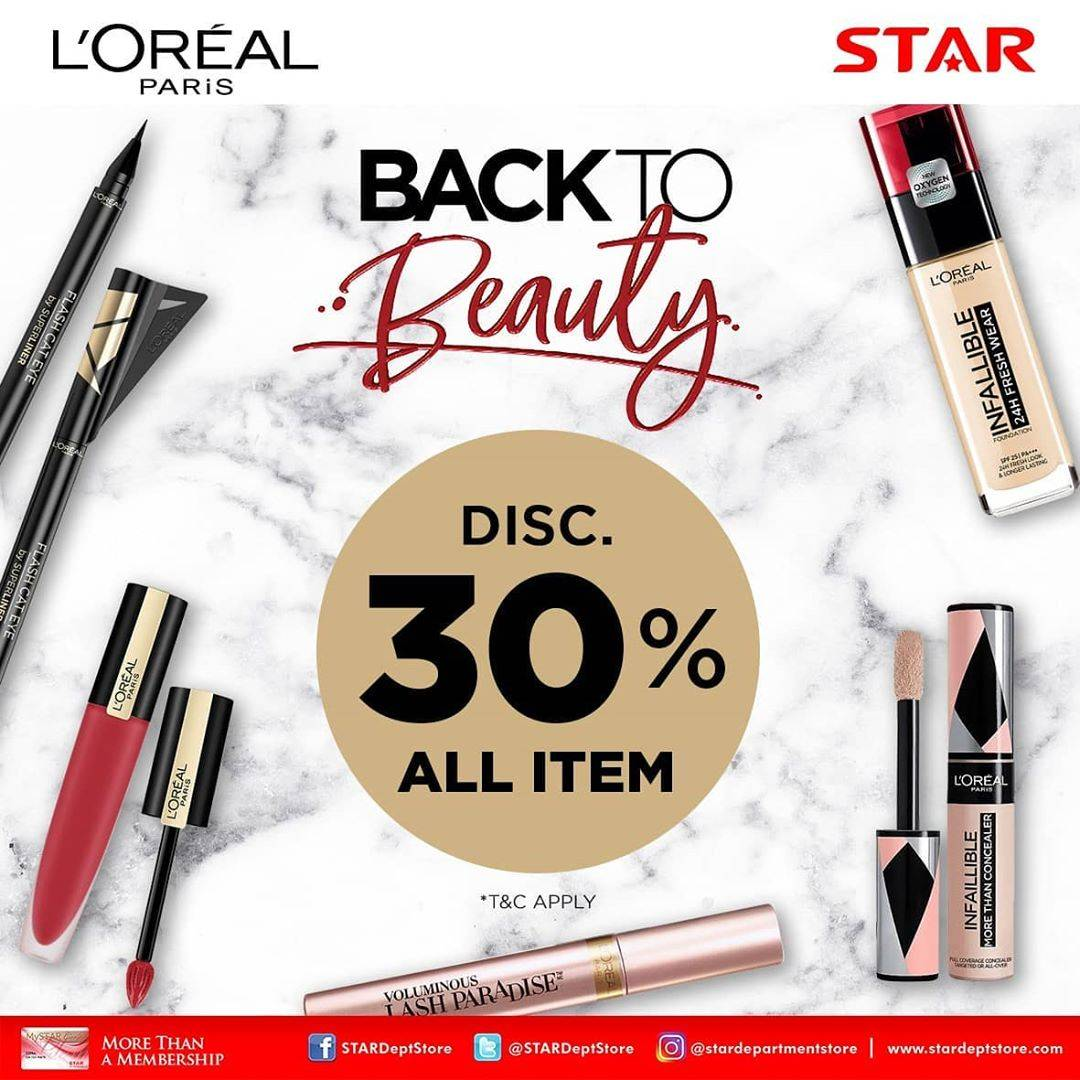 Diskon Star Department Store Promo Back To Beauty Diskon 30%