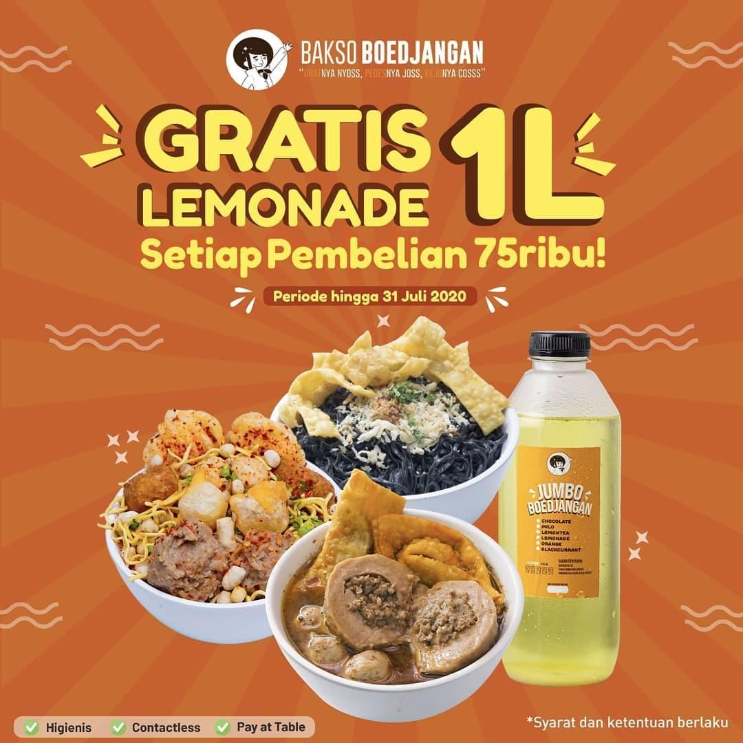 Diskon Promo Bakso Boedjangan Gratis 1L Jumbo Boedjangan Varian Lemonde
