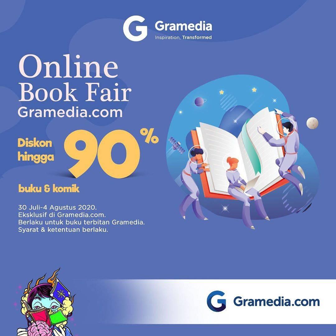 Diskon Gramedia Promo Online Book Fair DIskon hingga 90%