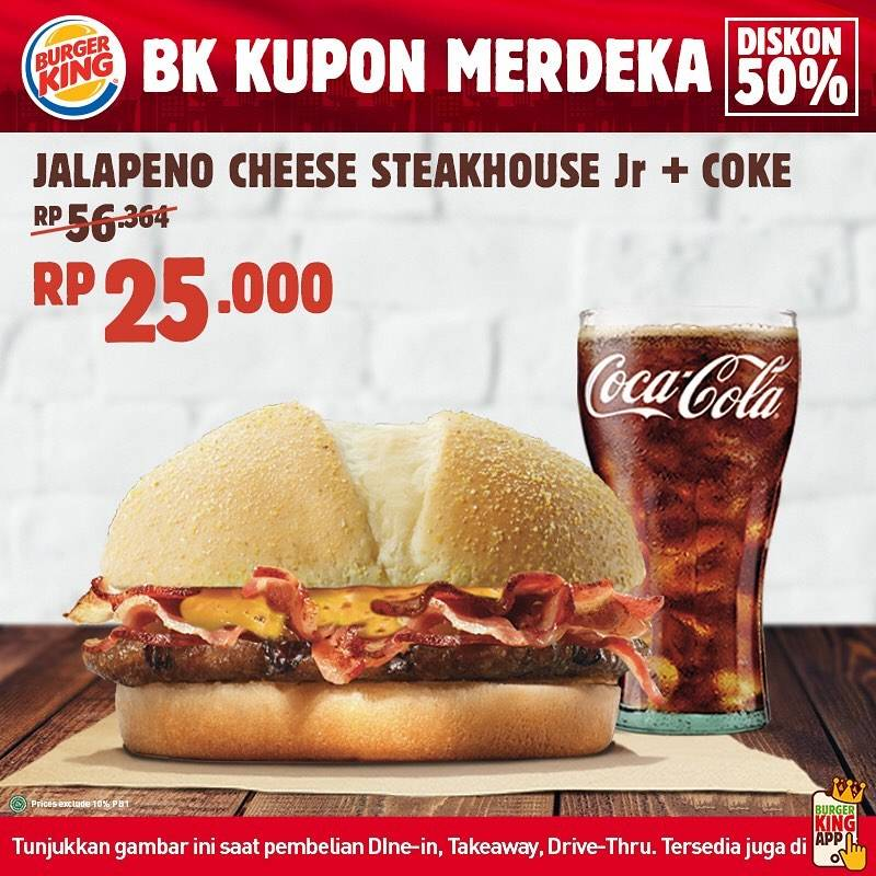 Diskon Promo Burger King Kupon Merdeka Diskon 50% Untuk Menu Favorit