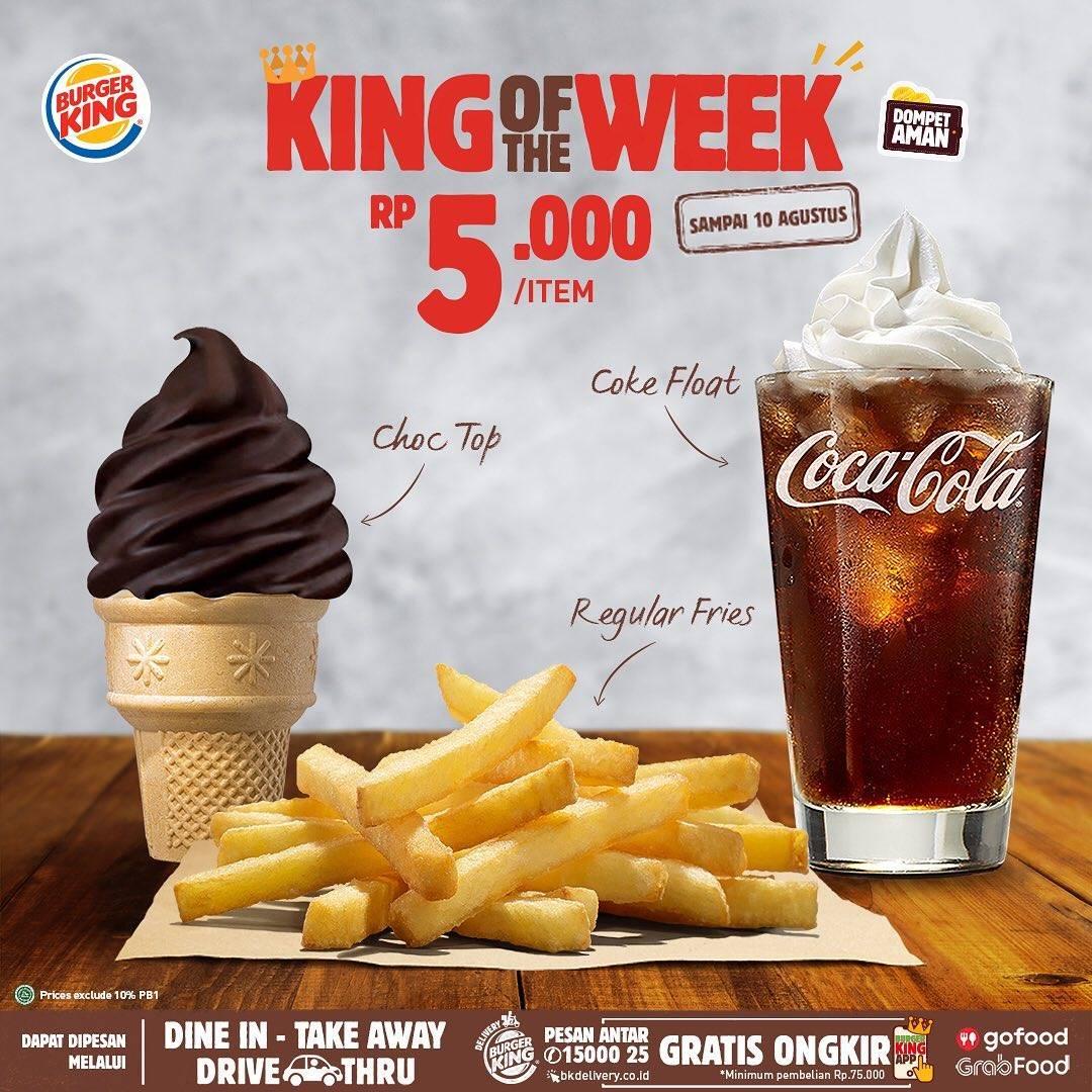 Diskon Promo Burger King King Of The Week Harga Dimulai Dari Rp. 5.000