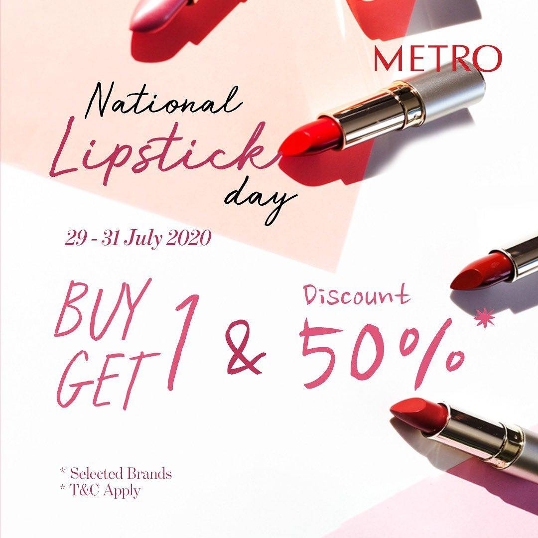 Diskon Promo Metro Department Store National Lipstick Day Buy 1 Get 1 Free Lipstick Product
